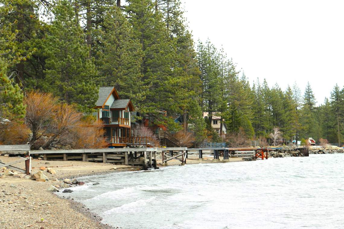 Donner Lake homes at low water copy