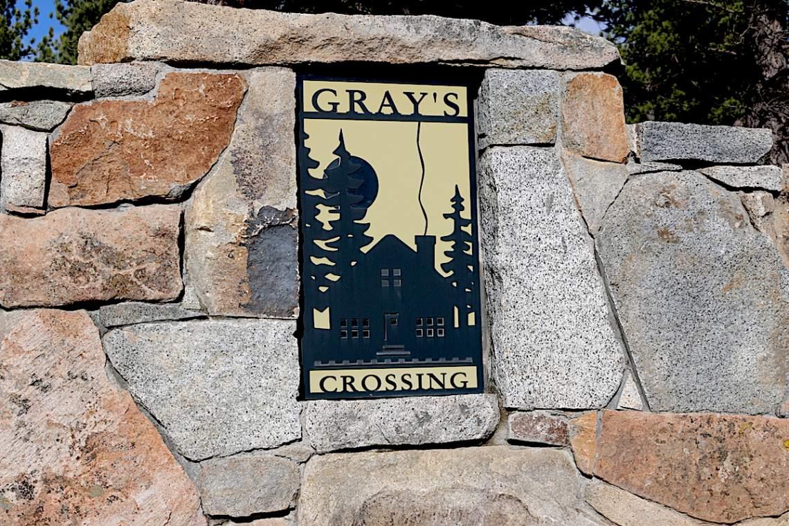 Gray's Crossing sign copy