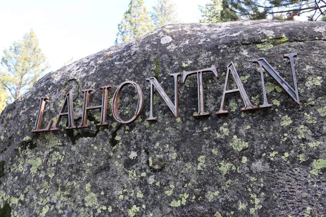 Lahontan sign copy