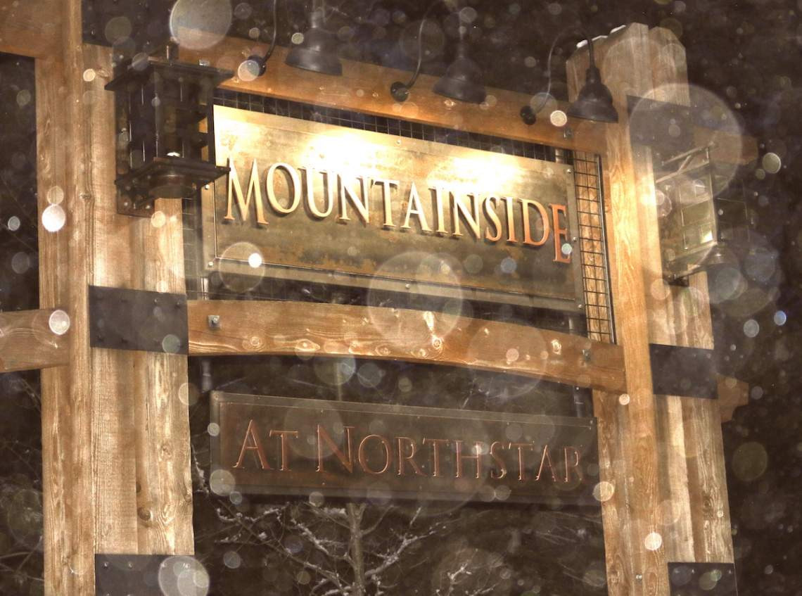 Mountainside sign