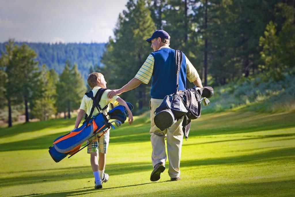 golf man and boy