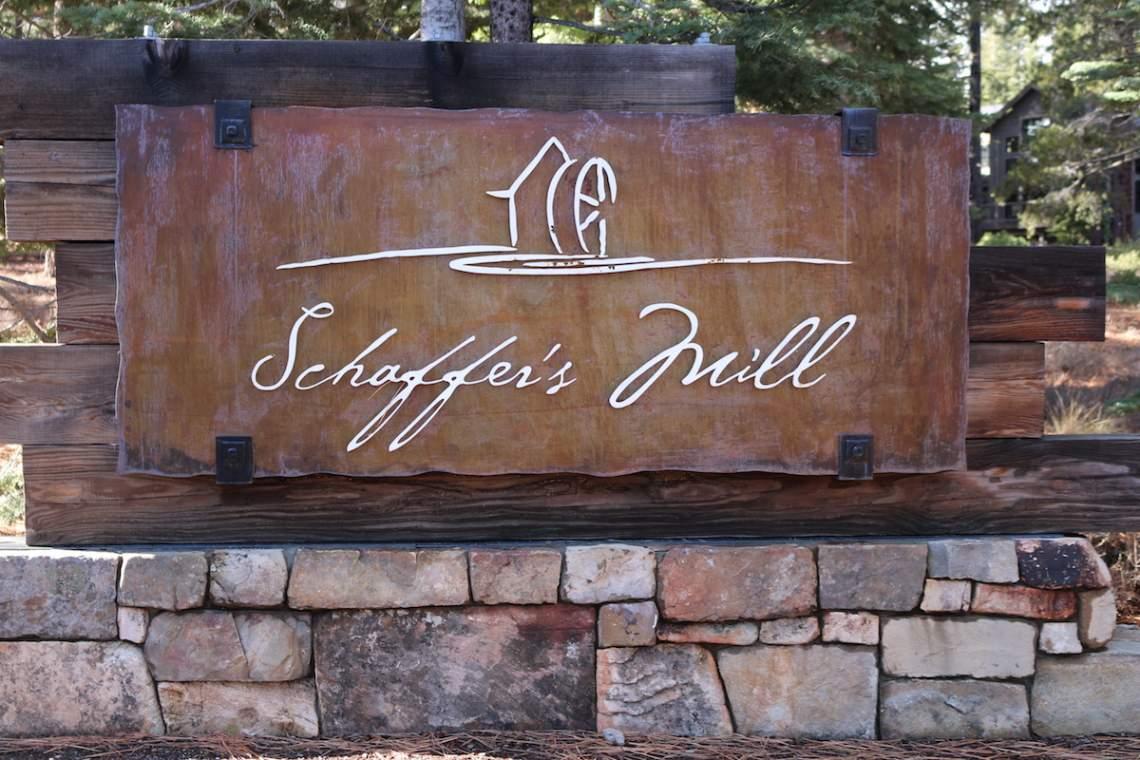 Schaffer's Mill sign copy