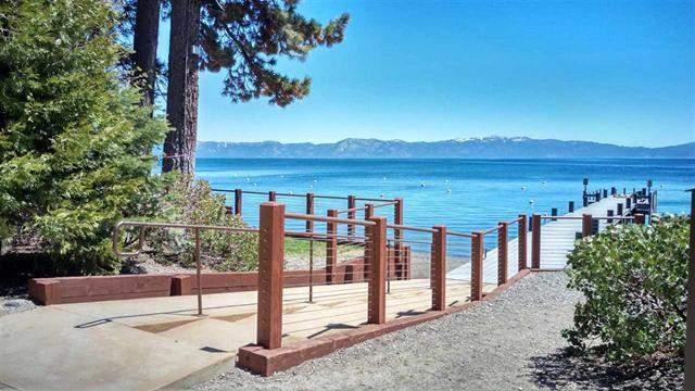Tahoe Park Beach steps pier