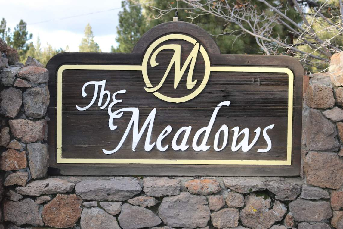The Meadows sign copy